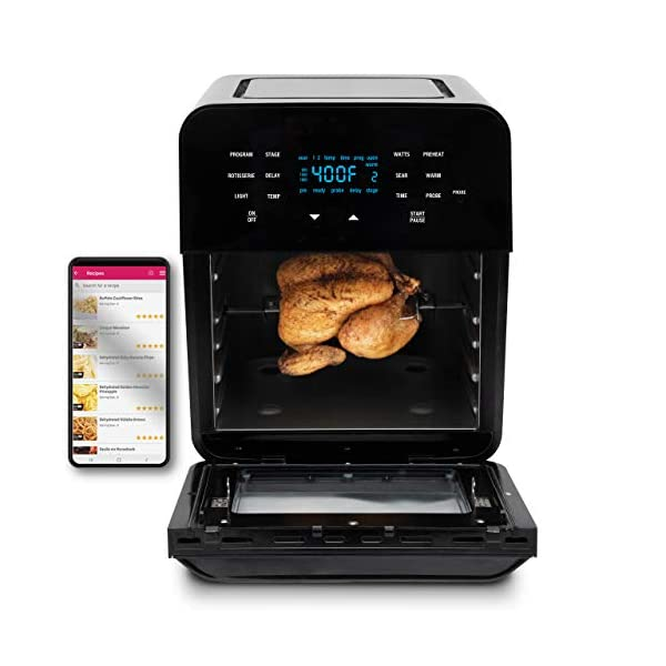 NUWAVE BRIO 14-Quart Large Capacity Air Fryer Oven with Digital Touch Screen Controls...