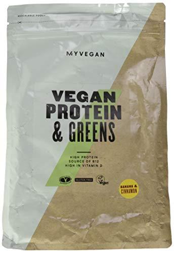 My Protein Vegan Protein & Greens Banana & Cinnamon 1000g