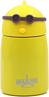 Disen Cute Kids Water Bottle Mini Thermal Bottles Stainless Steel Vacuum Flasks Insulated Travel Mug Wide Mouth Double Walled Leak Proof Hot & Cold Milk Beverage Containers for Girls, Boys
