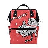 ALINLO - Bolsa de pañales para gato, diseño de gato