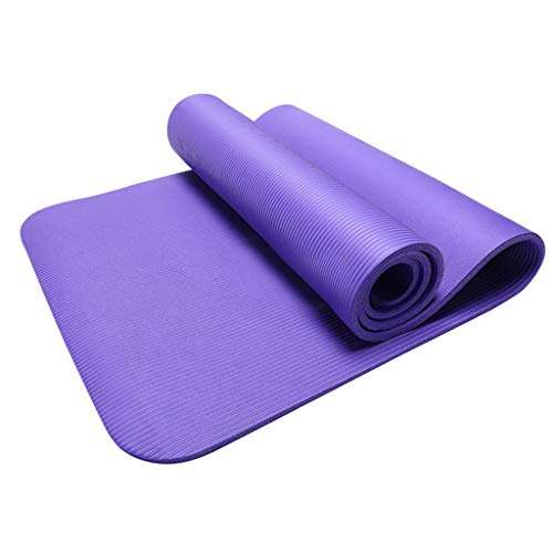 BJJH Gymnastikmatte, Premium Yogamatte (183 x 55 x 0,4 cm) - Matte rutschfest Schadstofffrei - Ideal als rutschfeste Yogamatte, Jogamatte rutschfest Extradick, Yoga- Matte, Dicke 4 mm (Lila)