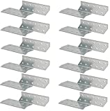KOTARBAU® Juego de 12 Piezas Conectores de Viga 170 x 40 mm Derecho Ángulo para Reforzar Estructuras de Madera de Construcción Carpintería