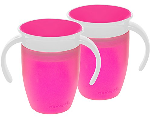 Munchkin Miracle 360 Trainer Cup, roze, 7 ounce, 2 count