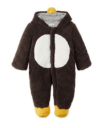 NAME IT Baby Jungen Mädchen Schneeoverall Wagenanzug NBNMENY Suit, Größe:50-56, Farbe:Gunmetal