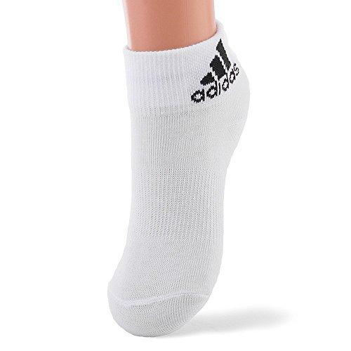 adidas Performance Calcetines, Unisex, Blanco/Negro, 23-26