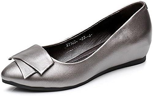 DYF Chaussures Femmes Nue, Fond Plat Peu Profond Bouche Forte AugHommestation Interne