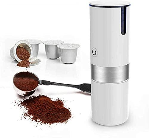 ZXCWE Máquina De Café Espresso Portátil Cafetera De Mano USB, Máquinas De Café Expreso Manuales Semiautomáticas, Gadgets De Viaje Operadas Manualmente, Ideal para Acampar