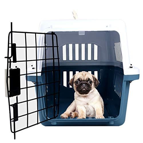 Jlxl huisdier vervoerder doos kat draagtas reizen dragen hond kooi auto luchtvaart transport afneembare koffer metalen deur lente slot