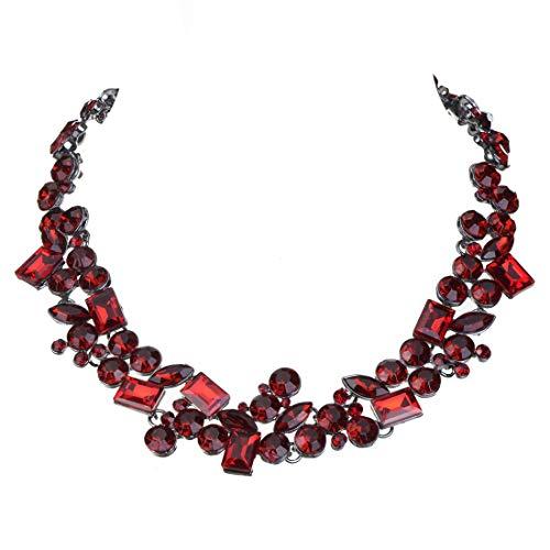 Collana/catenina/girocollo Statement da donna, Barocca e Altri, colore: rosso scuro, cod. N0011035