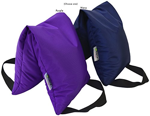 Bean Products Blue - 10 LB Yoga Sandbag Filled Two Handle Design - Made in USA