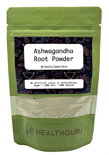 Health Guru Ashwagandha Powder (Withania Somnifera) | Indian Ginseng |No Artificial Colours or preservatives |Vegan|100% Pure & Natural
