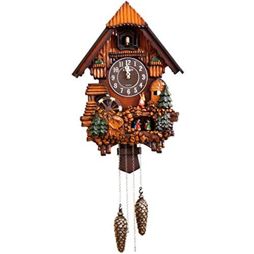 Secret night Reloj De Cuco De Moda, Reloj De Cuco De Tiempo, Alarma De Control De La Mañana En Cada Hora Cuckoo Música para Sala De Estar Habitación para Niños Decoración del Hogar