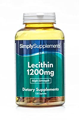 Super Strength Lecithin 1200mg   120 Capsules   100% Money Back Guarantee   Manufactured in The UK