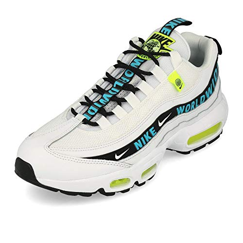 Nike Air Max 95 SE Worldwide White Blue Fury Volt Black White Size: 11.5 UK