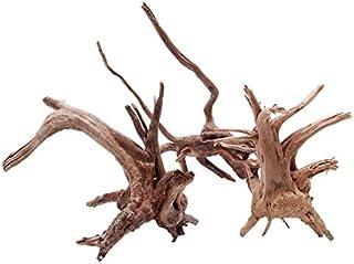 1pcの木自然トランク流木ツリー水族館水槽植物の装飾飾り-wood color, XS