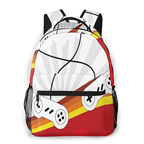 Sac à dos pour ordinateur portable de voyage,consoles de jeux de 70 pouces,consoles Starbursts,design rétro,amusant pour les joueurs,sac à dos antivol résistant à l'eau pour affaires,mince et durable