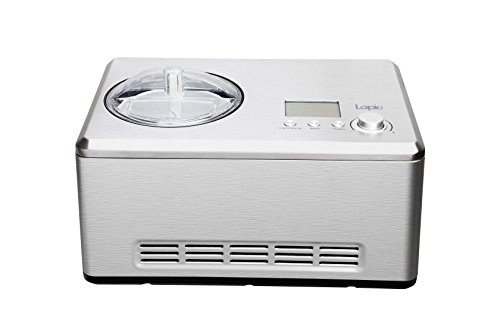 Lopie Automatic Ice Cream Maker with Built-in Compressor without Pre-Cooling, LCD Digital Display (Silver, 2.1Quart)
