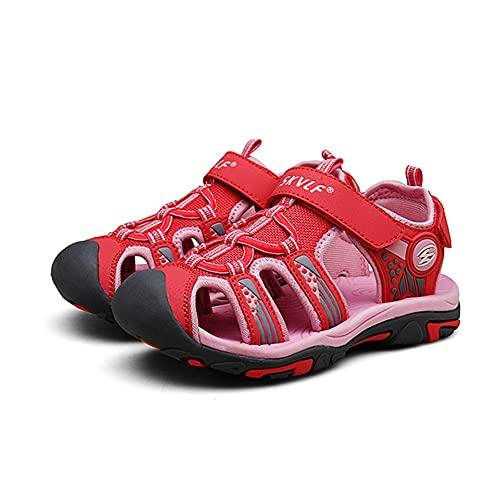 XIAOY Sandalias Niñas Niños Verano Sandalias Trekking Al Aire Libre Zapatos Niños Verano Con Velcro,C-24EU
