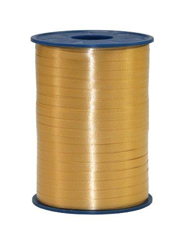 C.E. PATTBERG Geschenkband gold,  500 Meter Ringelband 5 mm zum Basteln,  Dekorieren & Verpacken von Geschenken  zu jedem Anlass