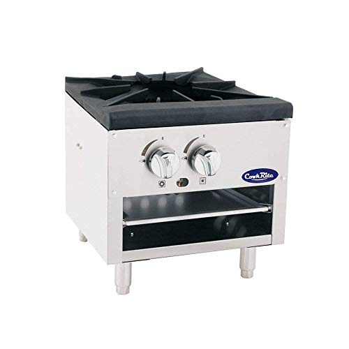Cook Rite ATSP-18-1L Single Stock Pot Stove Natural Gas Stainless Steel Countertop Portable...