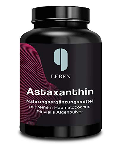 9 Leben Astaxanthin 180 Kapseln hochdosiert vegan | 12 mg am Tag | 3 bis 6 Monate | 6mg natürlich ohne Zusatz | laborgeprüft | made in D. | Sonnenbrand vorbeugen | Antioxidans vital pur essentiell