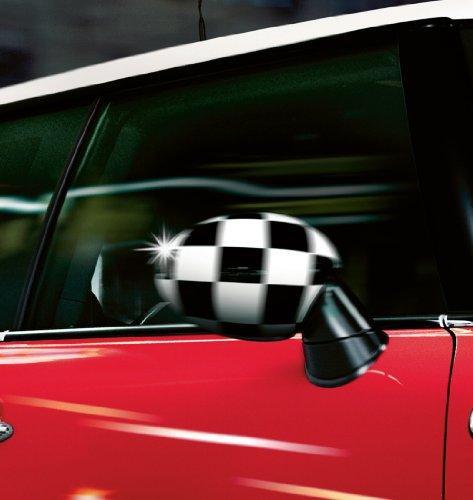 Mini Original Außenspiegelkappen Blenden Checkered R55 R56 R57 R58 R59 R60 - m. Anklappf.
