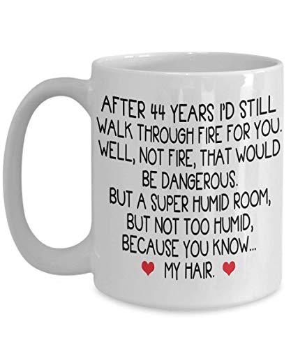 44 year anniversary Coffee Mug gifts for men, him, husband, 44th wedding anniversary together Tea Cup