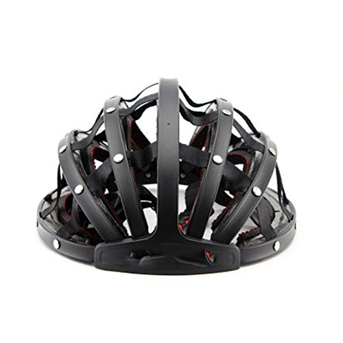 GXYAS Fahrradhelm, Motorradhelm,Fahrradhelm bequemer Helm klappbarer Mountainbike Helm Fahrradhelm-Black-L(56-62cm)