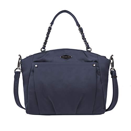 Travelon Satchel Crossbody Bag, Navy, 13.5