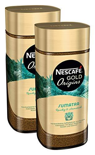 NESCAFÉ GOLD Origins Sumatra, löslicher Bohnenkaffee aus 100% Arabica Kaffeebohnen, koffeinhaltig, 2er Pack (2x100g)