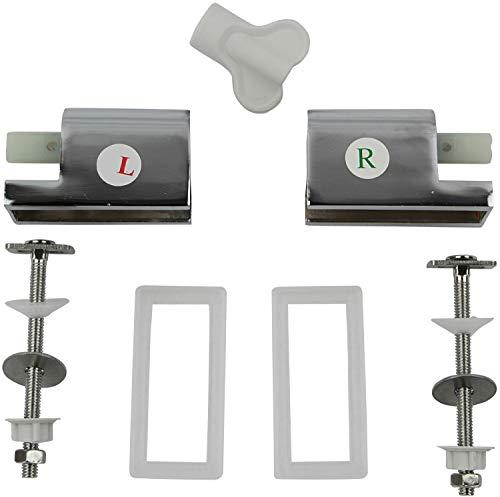 P.M. Sareno Absenkautomatik mit Montageset für Duroplast WC Sitze Ersatz
