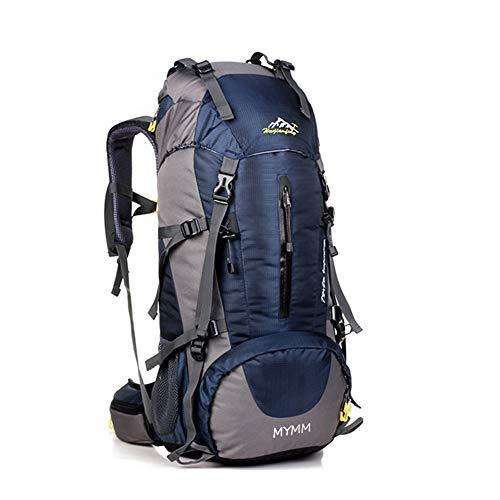 Mochila de 50/80L , ideal para deportes al aire libre, Senderismo, Trekking, Camping Travel, Escalada. Bolso impermeable del alpinismo, Daypacks que suben del recorrido, mochila (Azul oscuro, 50L)