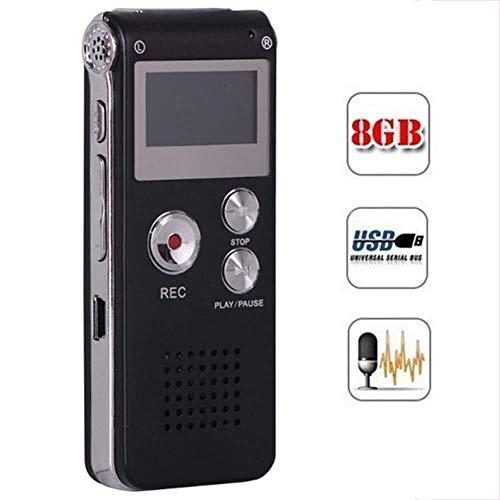 Npeiyi Audio Recorder, note di registrazione, Voice Tracer Audio Recorder, 360 ° registrazione di riunione, 8GB, USB ricaricabile Audio Recorder, Spy Voice Recorder for conferenze, incontri, intervist