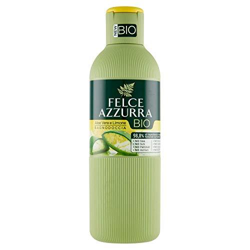 Felce Azzurra BIO Duschbad Aloe Vera & Lemon - Duschbad mit frischem Zitrusduft und Aloe Vera auf Bio-Basis - 100% recyclebare Verpackung - 1er Pack (1x 500 ml)