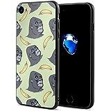 スマホケース IPhone8 ケース IPhone7 ケース おしゃれ 個性的 耐衝撃 ゴリラチンパンジー サル バナナ
