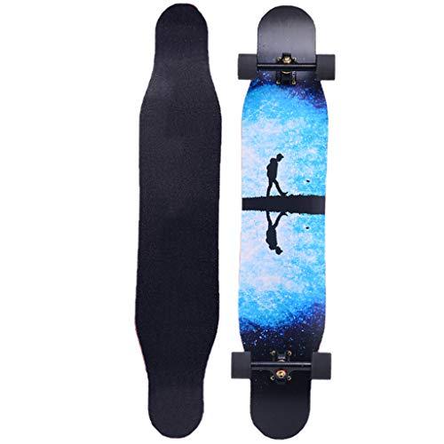Great Price! YQQ-MOTION 46 Inch Drop Through Freestyle Longboard Skateboard Cruiser Lightweight Pro ...
