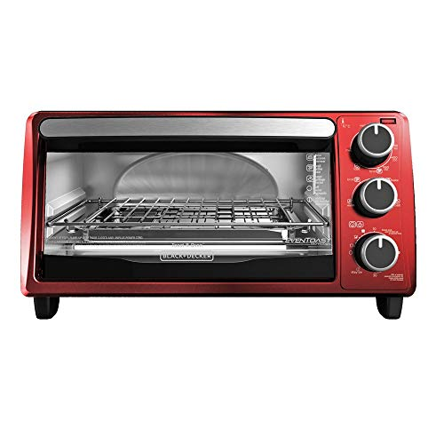 Black & Decker TO1303RB 4-Slice Toaster Oven, Red