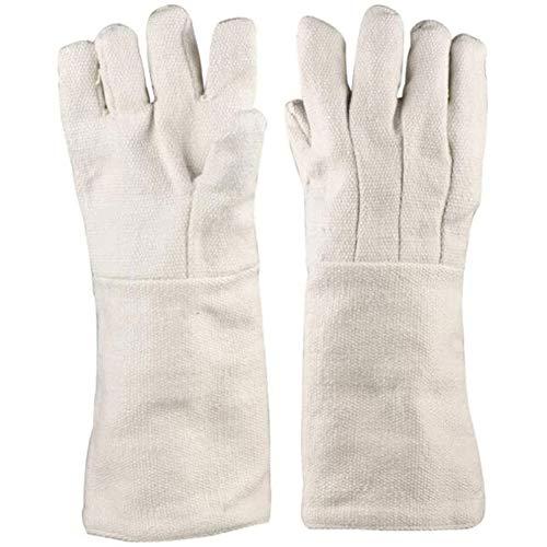 Liapianyun Keramikfaser Beständigkeit Bis 1000 Grad Isolationshandschuhe, Sicher Industrie Hitzebeständige Experimentelle Schutzhandschuhe Feuerfeste Handschuhe,Grau