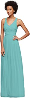 Long Bridesmaid Dress with Crisscross Back Straps Style W10974
