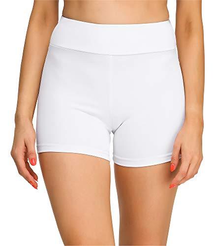 Merry Style Leggins Cortos Malla Deportiva Short Mujer MS10-244(Blanco, XS)