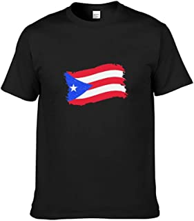 Puerto Rico Flag Men's T-Shirt Graphic Printed Short Sleeve T-Shirt Summer