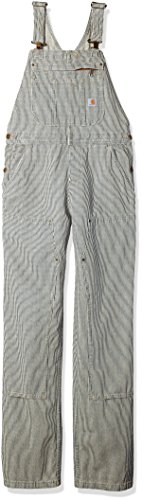 Carhartt Women's Brewster Double Front Railroad Striped Bib Overalls, XS Standard