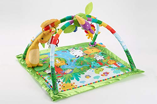 Must-have toy for three-month-old baby, Fisher-Price Rainforest Music & Lights Deluxe Gym [Amazon Exclusive]
