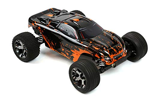 Custom Body Muddy Orange Over Black Compatible for 1/10 Scale RC Car or Truck (Truck not Included) R-G-01