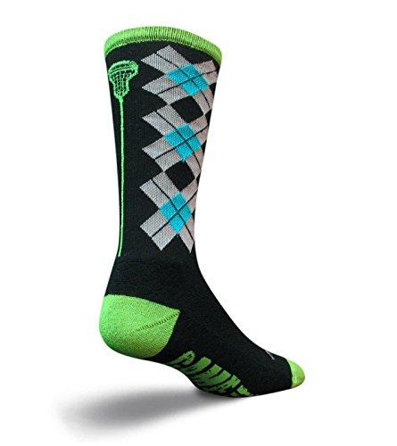Toy Zany SockGuy Check Sticks Mens Black Sock S/M