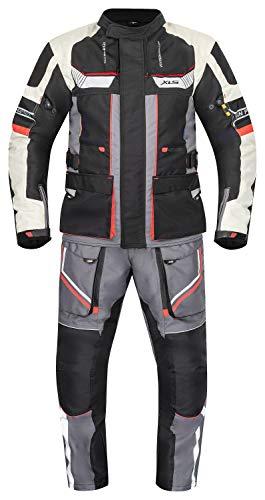 XLS Textilkombi hochwertige Motorradkombi X-Drive Textil atmungsaktiv wasserdicht (4XL)