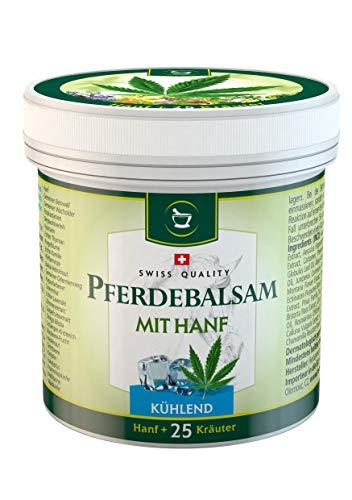 SwissMedicus Pferdebalsam mit Hanf kühlend, Massagecreme für Muskeln und Bänder, ideal für Sportler, natürliche Pflanzenextrakte, alltäglicher Gebrauch - Pferdesalbe 500 ml