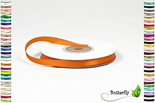 Creativery 25m Rolle Satinband 6mm (orange 668) // Schleifenband Deko Band Dekoband Geschenkband Dekoration Hochzeit Taufe