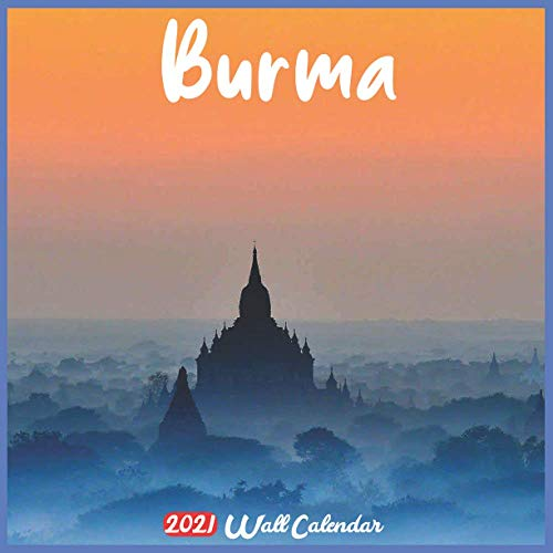 Burma 2021 Wall Calendar: Official Burma Calendar 2021, 18 Months