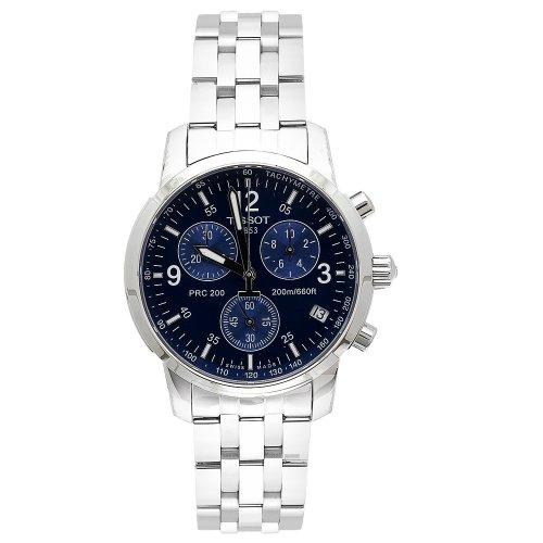 Tissot T17158642 T-Sport PRC200 cronografo in acciaio inox quadrante blu orologio